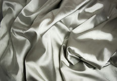 Texture of a white silk Stock Image