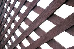 The texture of white slat wall Stock Photography