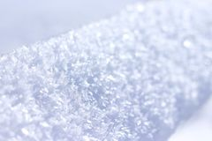 Snow texture. Snow-crystal. Macro photography. stock images