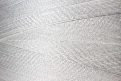 Texture of white thread in spool Royalty Free Stock Image