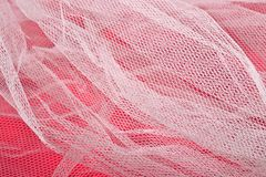 Texture of white tulle Royalty Free Stock Images