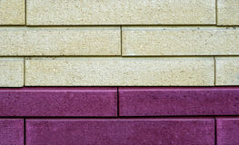 Texture of white and violet decorative tiles in form Royalty Free Stock Image