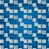 Texture of white volumetric squares. (seamless pattern). Dark blue background Vector Illustration