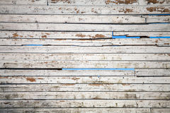 Texture of white weathered wooden lining boards Stock Image