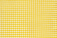 Texture white yellow tablecloth Stock Images