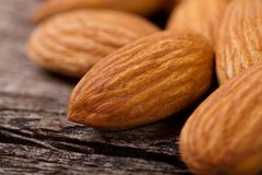 Texture whole almonds close up Royalty Free Stock Photography