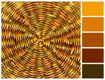 Texture of wicker basket with palette color swatches Royalty Free Stock Image