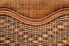 Background of wicker furniture close up stock photo