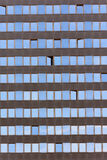 Texture windows on high-rise building. Royalty Free Stock Image