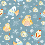 The texture of winter owls Stock Photos