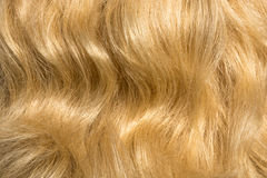 The texture of women's hair. Texture womens bright curly hair Royalty Free Stock Photos