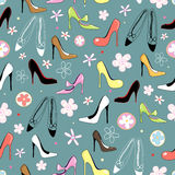 Texture of women's shoes Stock Photo