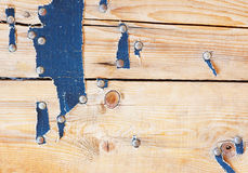 Texture of wood. Texture of old wood with nails and leather Stock Images