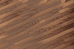 Texture of wood, antique wooden floor with brown colors vector illustration
