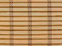 Texture wood blinds stitched rope. stock photos