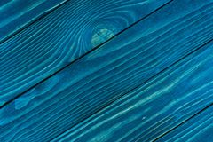 Texture of wood blue panel. Royalty Free Stock Photography