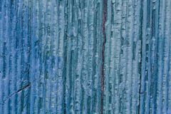 Texture of Wood blue panel for background Stock Image