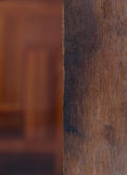 Texture of wood with blur wooden background Stock Photography