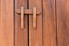 The texture of wood and lock Royalty Free Stock Photography