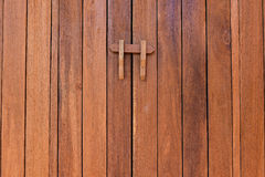 The texture of wood and lock Royalty Free Stock Images