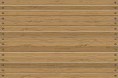Texture of wood panels horizontal wall, abstract background vector illustration Royalty Free Stock Photos