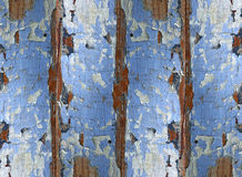 Texture of  wood shabby blue panel for background. Very old boards, and multiple layers of paint peeling off. Wooden planks. Background. Texture. Past Royalty Free Stock Photos