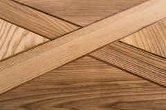 Texture of wooden brown antique table. Stock Images