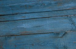 Texture - wooden fence blue from the board stock photography