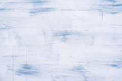 Texture of wooden fence. With a cracked white and blue paint Royalty Free Stock Image