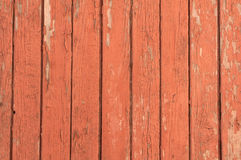 Texture of wooden fence painted brown paint Stock Photography