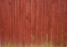 Texture of wooden fence, painted in red Stock Image