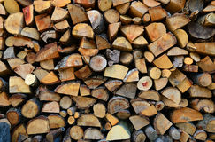 Texture of wooden logs Stock Photography