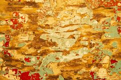 The texture of the wooden peeling surface. Background. Place for text royalty free stock image