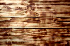 Texture of a wooden plank lying along royalty free stock photos