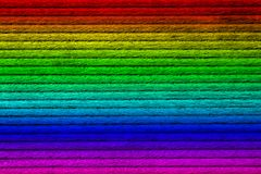Texture of wooden plank, spectrum painted, close-up, stock images