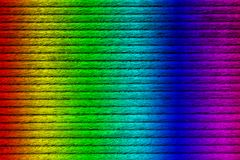 Texture of wooden plank, spectrum painted, close-up stock photo