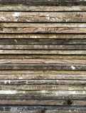 Texture of wooden planks at construction site. Royalty Free Stock Photos
