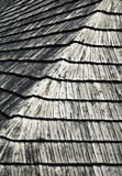 Texture of a wooden shingle roof Royalty Free Stock Photography