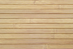Texture of the wooden slats of bamboo. Stock Photos