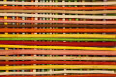 Texture of wooden sticks colored. Full background Royalty Free Stock Photos