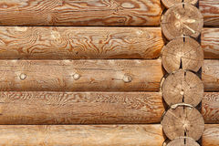 The texture of the wooden wall of the house Royalty Free Stock Photography