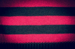 Texture of wool black pink stripes Stock Photography