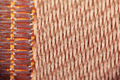 Texture of wool fabric weave Royalty Free Stock Image