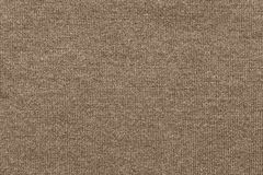 Texture woolen fabric or yarn closeup of brown color Stock Photo