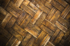 Texture woven of bamboo Tilt angle Stock Images