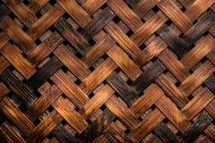 Texture of woven basket Stock Photos