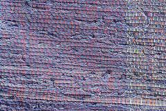 Texture of woven cotton dark blue, purple threads Stock Photo