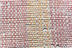 Texture of woven cotton white, orange, red thread Royalty Free Stock Image
