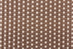 Texture from woven plastic. Texture or Background from woven white and brown plastic Stock Photography