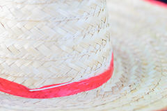 Texture woven tan straw hat detail. The texture woven tan straw hat detail stock photography